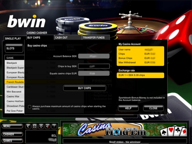poker bwin freeroll