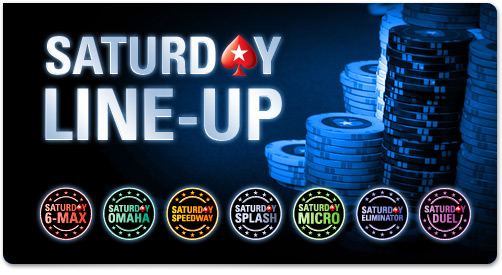 Saturday Line-Up turnaje na PokerStars