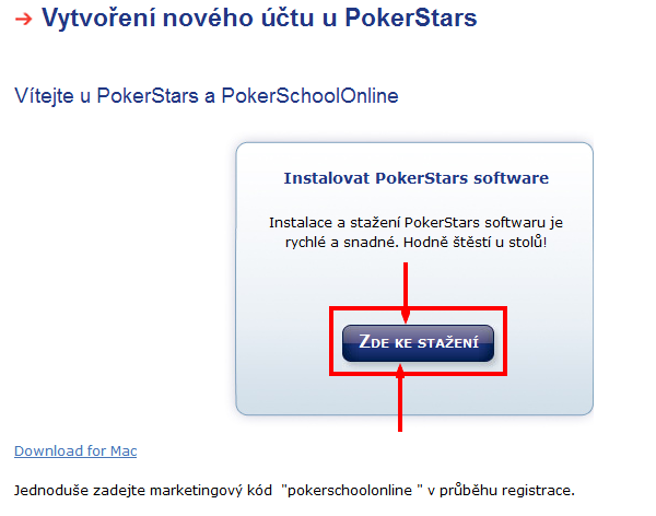 IntelliPoker registrace
