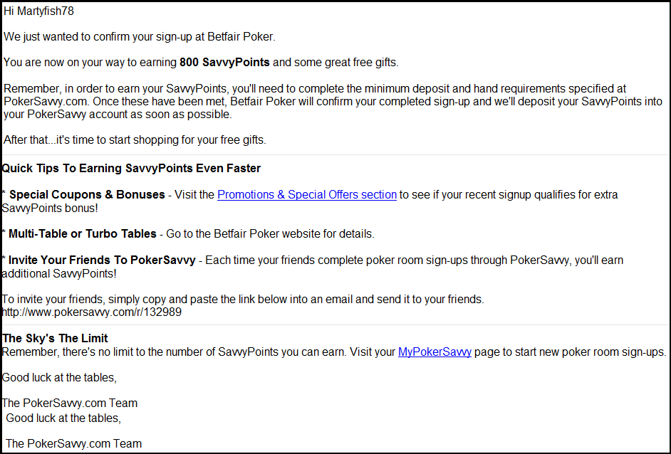 pokersavvy email