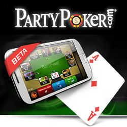 Party Poker mobilní aplikace android ios iphone