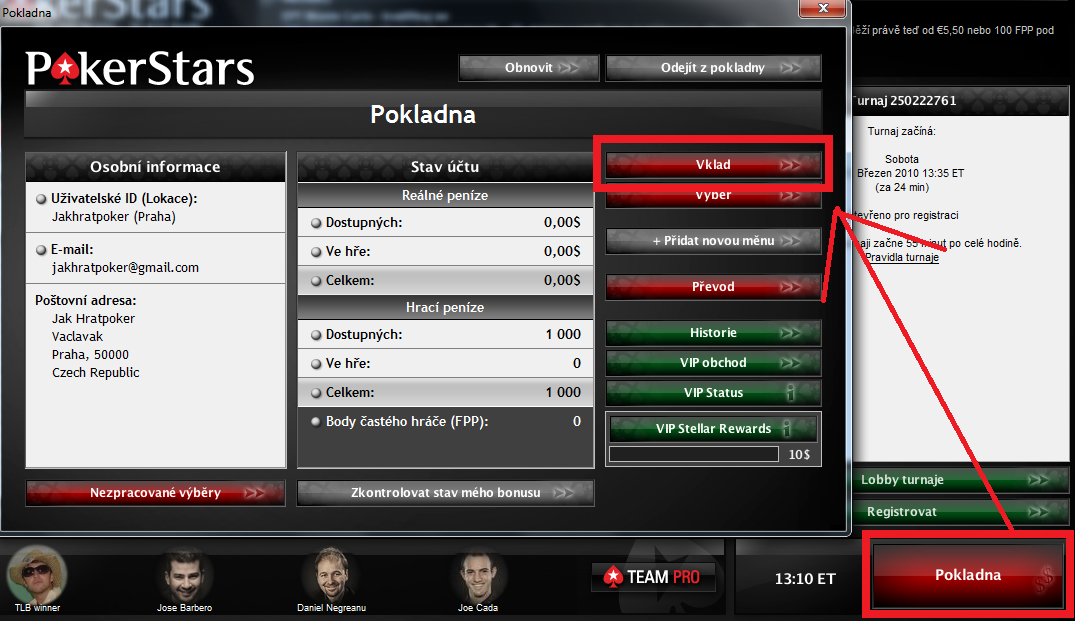 PokerStars.net registrace